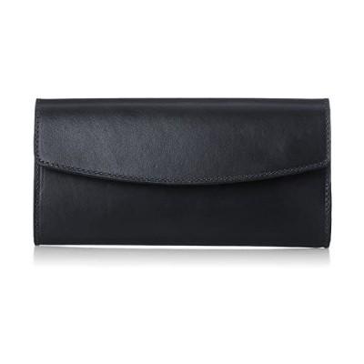 [ノマドイ] ペンシルバニア かぶせ型長財布 NAMW6ET3 (ブラック Free Size)