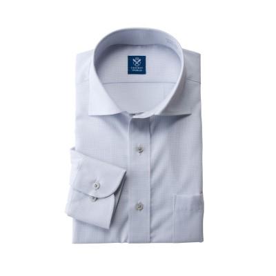 形態安定長袖ワイシャツ(レギュラーカラ―)(標準シルエット) (ワイシャツ)Shirts, テレワーク, 在宅, リモート