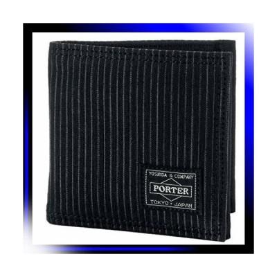 F 1サイズ /ブラック ポーター ポーター ドローイング 2つ折り財