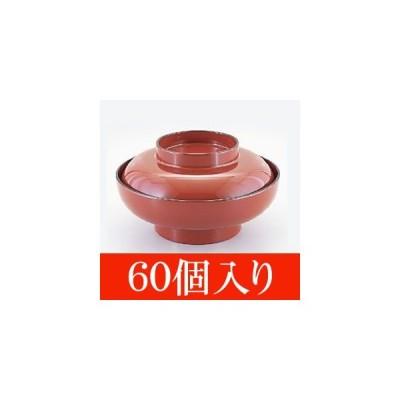 60個入 ABS製 5.5寸えびす丼 朱内朱天黒(身・蓋セット)(φ165×96)60個(451-581-80)
