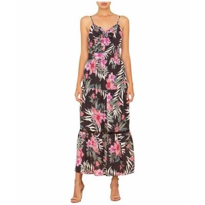 ミスミー ワンピース トップス レディース Tropical Print Maxi Dress Black