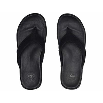(取寄)アグ メンズ シーサイド フリップ レザー UGG Men's Seaside Flip Leather Black