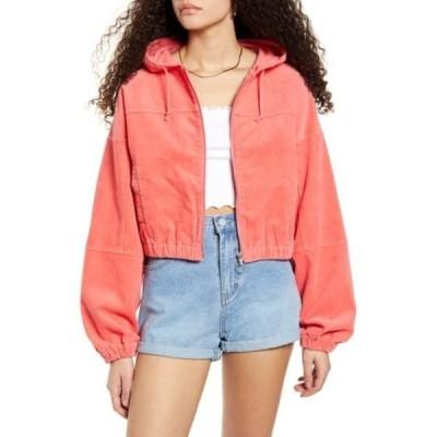 ユニオンベイ レディース ジャケット&ブルゾン アウター Adelia Hooded Cotton Corduroy Jacket PINK GRAPEFRUIT