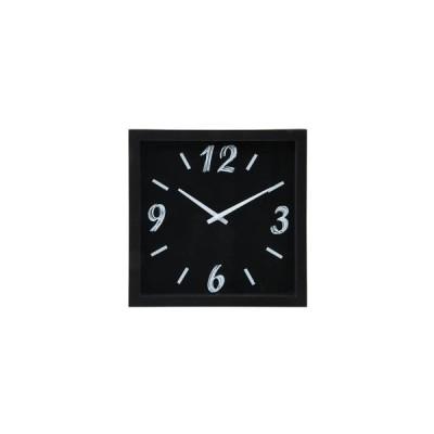 不二貿易 掛時計 ペイント □23cm BK 99030