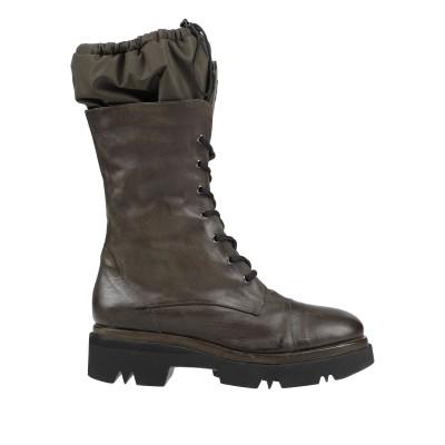 MALLONI ブーツ ダークグリーン 41 革 / テンセル ブーツ