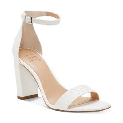 アイエヌシーインターナショナルコンセプト レディース サンダル シューズ INC Women's Lexini Two-Piece Sandals,  White Snake
