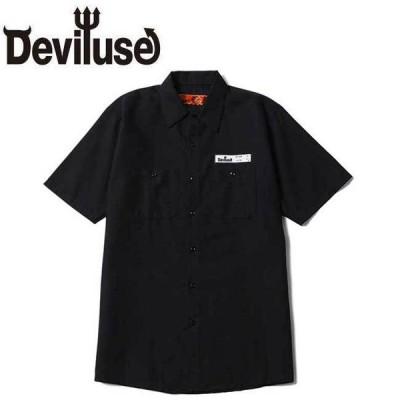 デビルユース DEVILUSE シャツ Patch Work S/S Shirts Black 半袖シャツ パッチワーク ブラック