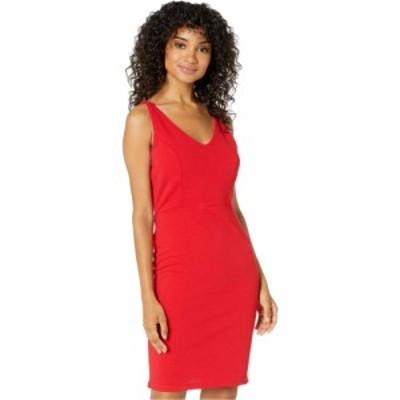 ベベ Bebe レディース ワンピース Vネック ノースリーブ ワンピース・ドレス V-Neck Sleeveless Dress Red