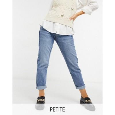 ニュールック New Look Petite レディース ジーンズ・デニム ボトムス・パンツ Waist Enhance Mom Jeans In Blue ライトブルー