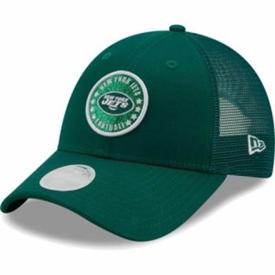 ニューエラ New Era レディース キャップ トラッカーハット 帽子 New York Jets Green Sparkle Adjustable Trucker Hat
