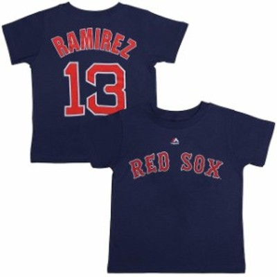 Majestic マジェスティック スポーツ用品  Majestic Hanley Ramirez Boston Red Sox Youth Navy Player Name & Number T-S