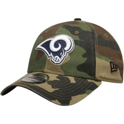 ユニセックス スポーツリーグ フットボール Los Angeles Rams New Era Primary Logo Core Classic 9TWENTY Adjustable Hat - Woodland Camo