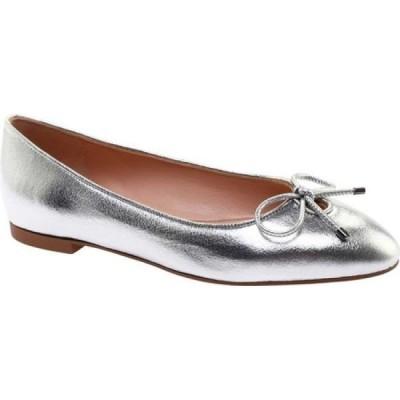 スチュアート ワイツマン Stuart Weitzman レディース スリッポン・フラット シューズ・靴 Gabby Metallic Nappa Flat Silver Nappa Leather
