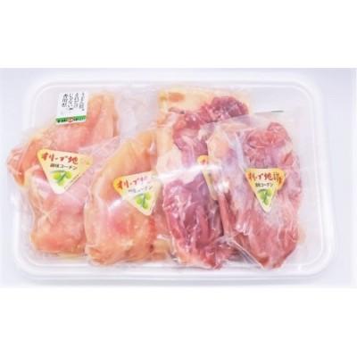 オリーブ地鶏 モモ肉 500g & ムネ肉500g セット 合計約1kg