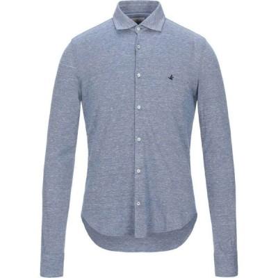 ブルックスフィールド BROOKSFIELD メンズ シャツ トップス solid color shirt Slate blue