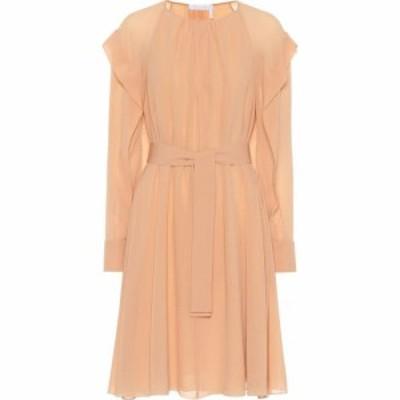 クロエ Chloe レディース ワンピース ワンピース・ドレス Belted silk dress Smoked Ochre