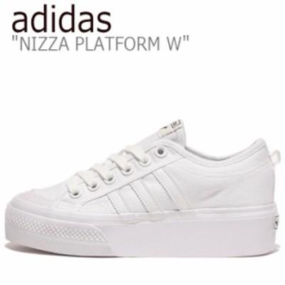 アディダス スニーカー adidas レディース NIZZA PLATFORM ニッツァ プラットフォーム WHITE ホワイト FV5322 シューズ