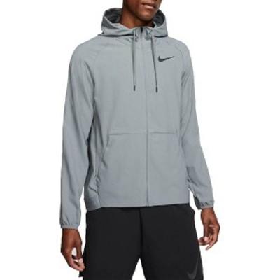 ナイキ メンズ ジャケット・ブルゾン アウター Nike Men's Flex Full-Zip Training Jacket Smoke Grey/Black