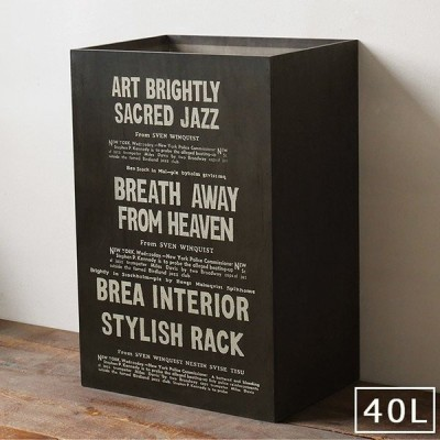 ごみ箱 45リットル おしゃれ キッチン 男前インテリア 木製 ゴミ箱 ダストボックス ブラック BREA