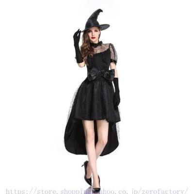 ハロウィン仮装 コスプレ衣装 3点セット 巫女 魔女 悪魔 大人用 レディース セクシー コスチューム ハロウィン用品 ロングドレス 公演服