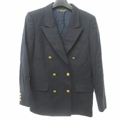 【中古】ブルックスブラザーズ ダブル テーラードジャケット ブレザー 紺ブレ 金ボタン ネイビー 紺 11AR
