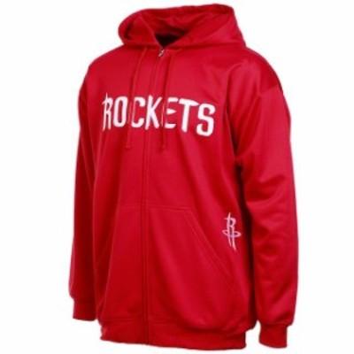 Majestic マジェスティック スポーツ用品  Majestic Houston Rockets Red Big & Tall Delay Therma Base Full Zip Hoodie