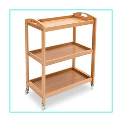 SMLZV Solid Wood Storage Serving Trolley with Wheels - Kitchen Trolley Serving Cart Catering Delivery Car Solid Wood Wine Cart