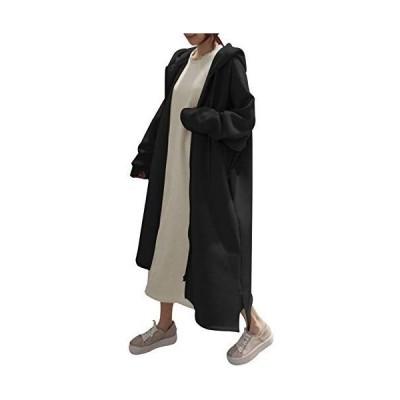(スイーヤ) コート レディース パーカーコート ロング 裏起毛 フード付き 体型カバー おしゃれ 保温 大人可愛い ラグランスリーブ 暖か