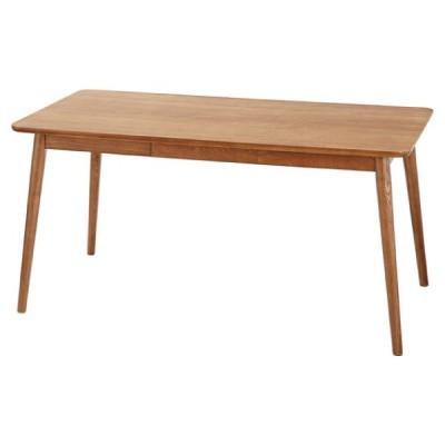 ダイニングテーブル テーブル 机 ヘンリー ブラウン 茶色 おしゃれ 北欧 4人用 四人用 木製 天然木 食卓 引き出し付 HOT-540BR / 東谷