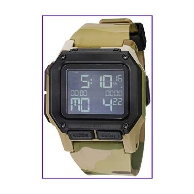 NIXON Regulus A1180 - Multicam - 100m Water Resistant Men's Digital Sport Watch (46mm Watch Face, 29mm-24mm Pu/Rubber/Silicone Band) 並行輸入品