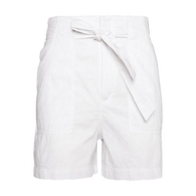 キュー エス デザイン バイ カジュアルパンツ レディース ボトムス Shorts - white