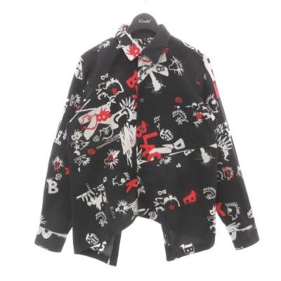 BLACK COMME des GARCONS 変形シャツ ブラック サイズ:S (フレスポ東大阪店) 210404