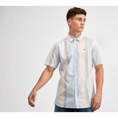 トミー ジーンズ Tommy Jeans メンズ 半袖シャツ トップス mixed stripe short sleeve shirt Peachskin/Multi