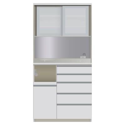 家具 収納 キッチン収納 食器棚 レンジ台 ハイカウンターダイニング ガラス扉タイプ ハイカウンターボード W100D45H203/パモウナ JQL-S1000R JQR-S1000R 549266