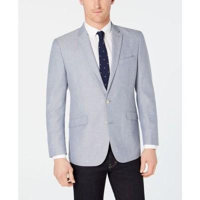 ケネスコール メンズ ジャケット・ブルゾン アウター Men's Slim-Fit Blue/White Tic Sport Coat