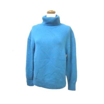 【中古】バンヤードストーム BARNYARDSTORM ニット セーター 長袖 タートルネック ウール 青 ブルー F フリー IBS63 X レディース 【ベクトル 古着】