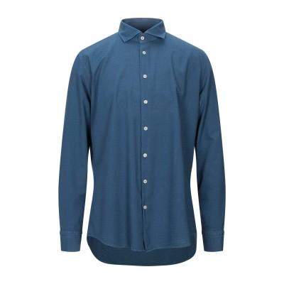 BASTONCINO シャツ ブルーグレー 43 コットン 100% シャツ