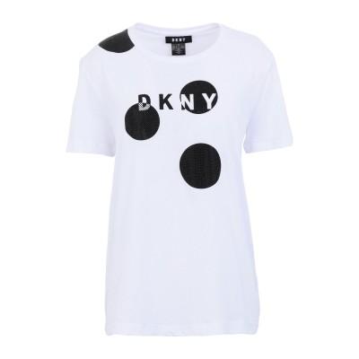 DKNY T シャツ ホワイト S コットン 60% / レーヨン 40% T シャツ
