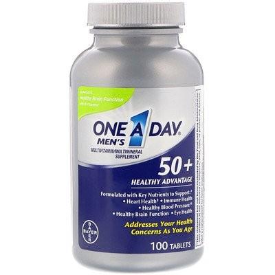 メンズ50+、健康アドバンテージ、マルチビタミン/マルチミネラル・サプリメント、100錠