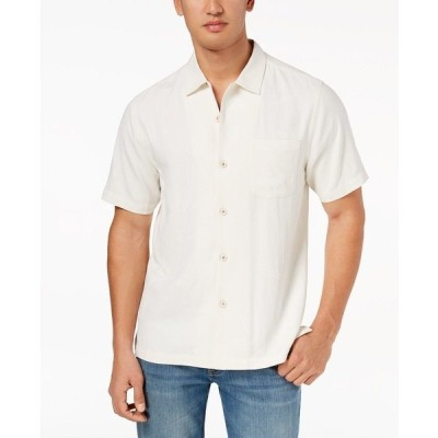 トッミーバハマ シャツ トップス メンズ Men's Weekend Tropics Silk Shirt Coconut Cream
