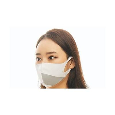 ルカ(LOOKA) デザインマスク アクセント WHITE×1ILVER Sサイズ
