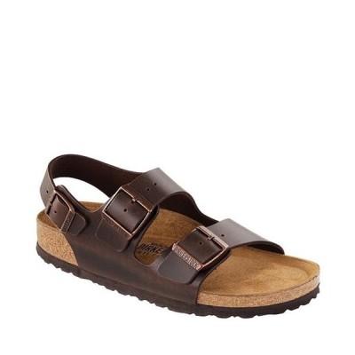 ビルケンシュトック メンズ サンダル シューズ Men's Milano Leather Double Banded Slingback Sandals