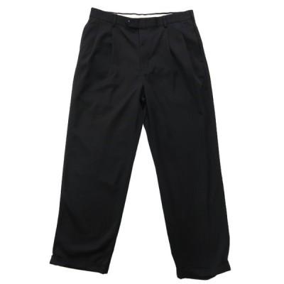 STAFFORD スラックスパンツ ツータック ブラック タロンジップ サイズ表記:W34 L30