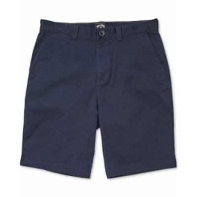 ビラボン メンズ ハーフパンツ・ショーツ ボトムス Men's Carter Core-Fit Stretch Twill Shorts Navy