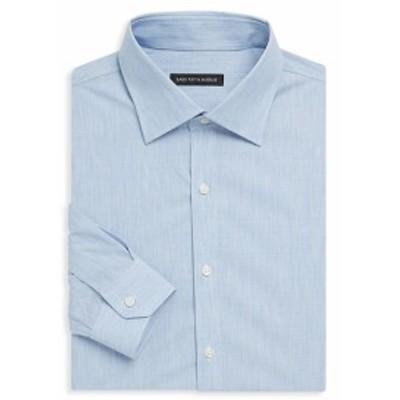 サックスフィフスアベニュー Men Clothing Melange Denim Dress Shirt