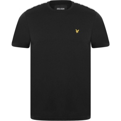 ライル アンド スコット Lyle and Scott メンズ Tシャツ トップス Taped T Shirt True Black