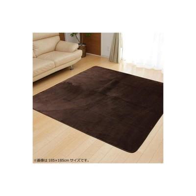ラグ ラグマット カーペット おしゃれ 北欧 安い 絨毯 厚手 極厚 フランネルラグ 床暖房 130×185 2畳 ブラウン