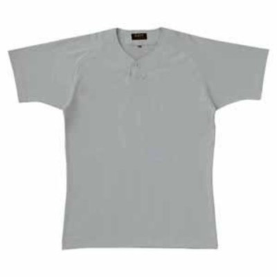ゼット 野球・ソフトボール用 ベースボールシャツ(シルバー M) ZETT 2ボタンタイプ Z-BOT520A-1300-M 【返品種別A】
