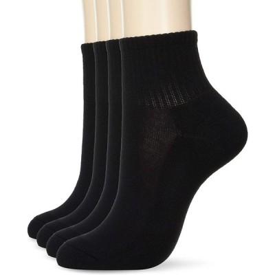[ウィゴー] 4Pアンクルパイルムジ ソックス 靴下 レディース F ブラック