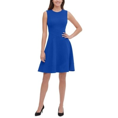 トミー ヒルフィガー ワンピース トップス レディース Sleeveless Fit & Flare Dress Marine Blue